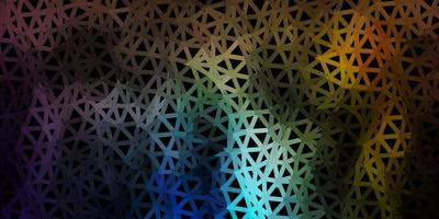 Disposition polygonale géométrique de vecteur multicolore sombre.
