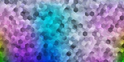 modèle vectoriel bleu clair, rouge dans un style hexagonal.
