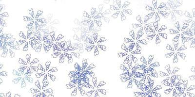 texture abstraite de vecteur bleu clair avec des feuilles.