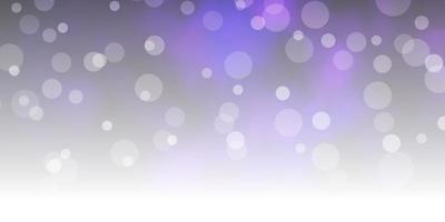 mise en page de vecteur violet foncé, rose avec des cercles.
