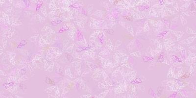 texture abstraite de vecteur rose clair, vert avec des feuilles.