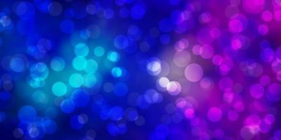 fond de vecteur rose clair, bleu avec des cercles