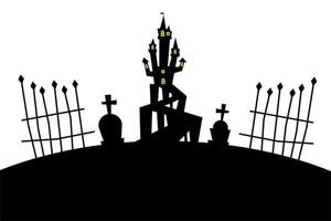 maison dhalloween à la conception de vecteur de cimetière