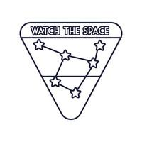 insigne d & # 39; espace avec style de ligne de constellation