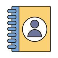 avatar de profil en ligne de journal et icône de style de remplissage