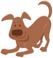 personnage animal ludique chien brun vecteur