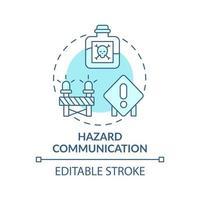 icône de concept de communication de danger