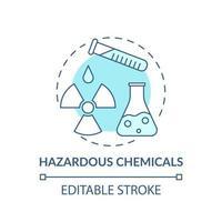 icône de concept de produits chimiques dangereux