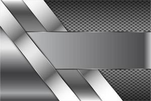 technologie métallique avec motif hexagonal vecteur