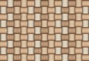 Texture de tapis de bambou de couleur marron vecteur