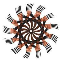 étoile fractale marron coloré