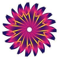 circulaire fractale étoile avec un design coloré rose