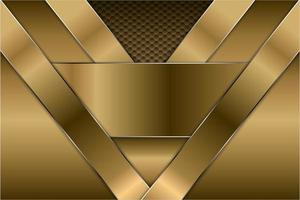 fond métallique doré avec motif hexagonal vecteur