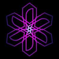 étoile abstraite de couleur violette vecteur