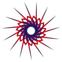 étoile fractale bleu couleur rouge