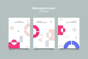 ensemble de vecteur d'affiche de démarrage de conception de memphis minimal