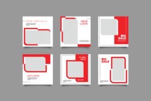 modèle de publication de médias sociaux de mode minimaliste vecteur