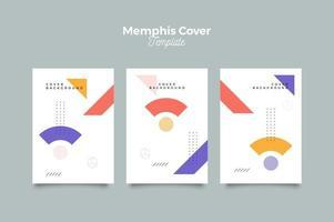 modèle de conception de couverture de memphis vecteur