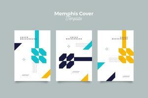 conception unique de couverture de memphis vecteur