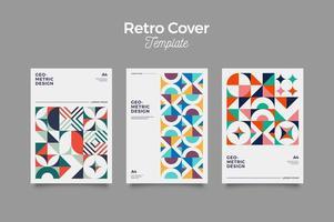 conception d'affiche de couverture vintage rétro vecteur