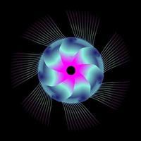 cercle abstrait spirographe de couleur rose bleu