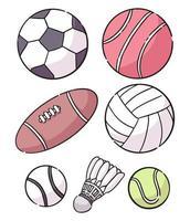 conception d'illustration de dessin animé de ballon de sport vecteur