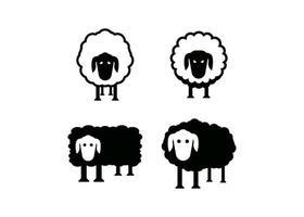 modèle de conception icône mouton vector illustration isolé