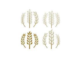 modèle de conception icône blé vector illustration isolé