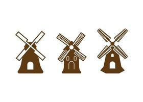 modèle de conception icône moulin à vent vector illustration isolé