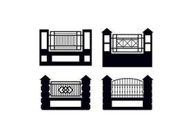 clôture porte icône design modèle vector illustration isolé