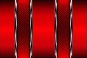métallique de rouge avec texture en fibre de carbone vecteur