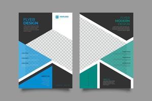 conception de modèle de flyer de couverture a4