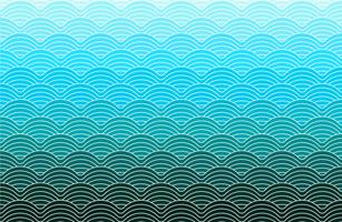 motif de vagues géométriques de couleur bleue vecteur