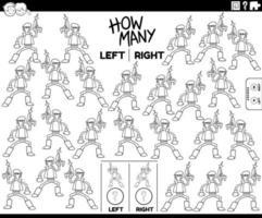 compter les images gauche et droite du personnage fantastique vecteur