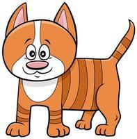 personnage animal de dessin animé mignon chaton
