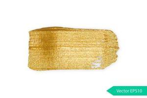tache de coup de pinceau acrylique doré