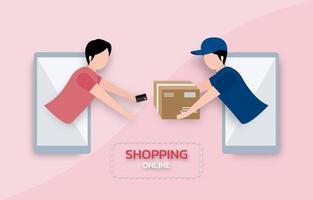 concept de commerce électronique d'entreprise. concept de paiement en ligne vecteur