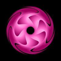cercle abstrait fractal de couleur rose