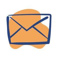 icône de style de ligne de courrier enveloppe