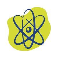 icône de style de ligne molécule atome vecteur
