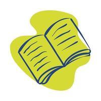 icône de style de ligne livre ouvert vecteur