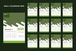 calendrier créatif d'entreprise nouvel an 2021 vecteur