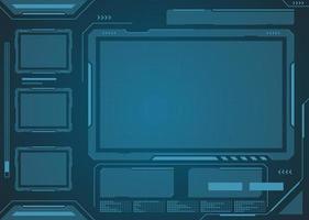 technologie futuriste interface hud conception de vecteur numérique.