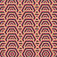 vecteur de motif géométrique rétro, motif de fond rétro abstrait.