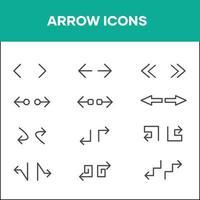 jeux d'icônes flèches directionnelles assorties vecteur