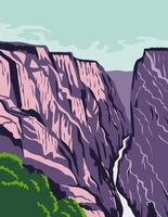 canyon dans le colorado états-unis affiche d'art en couleur