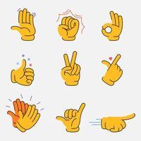 collection graphique de geste de la main fantaisie vecteur