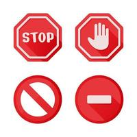 les notifications d'icône de panneau d'arrêt qui ne font rien. isoler sur fond blanc. vecteur