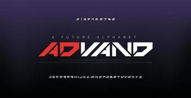polices de l'alphabet moderne numérique abstraite
