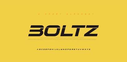 sport moderne futur jeu de polices alphabet italique